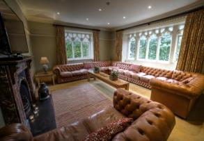 Number One has a glorious lounge with sumptous saddle leather sofas.